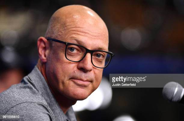 Dave Brailsford of Great Britain Team Manager of Team Sky / during the 105th Tour de France 2018, Team SKY press conference / TDF / on July 4, 2018...