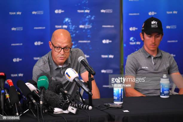 Dave Brailsford of Great Britain Team Manager Team SKY / Geraint Thomas of Great Britain and Team Sky / during the 105th Tour de France 2018, Team...