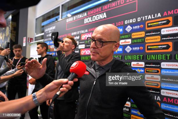 Dave Brailsford of United Kingdom Team Manager of Team INEOS / Interview / Press / Media / during the 102nd Giro d'Italia 2019 - Team INEOS Press...