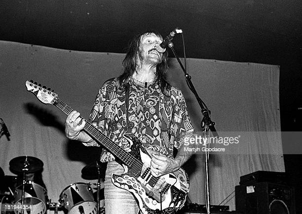 Dave Brock of Hawkwind performs on stage UK 1991