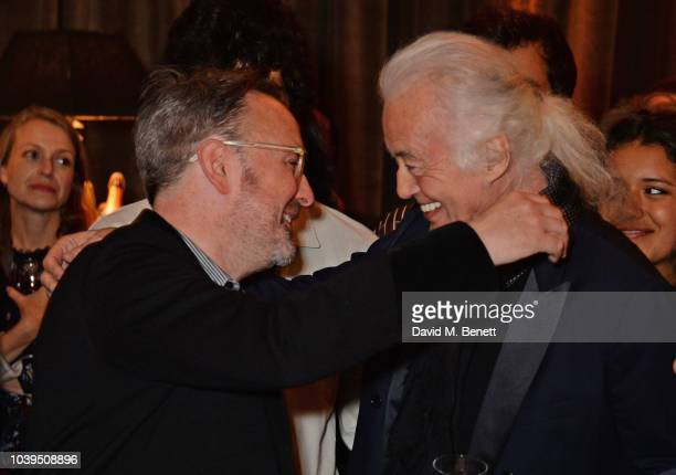 Dave Brolan and Jimmy Page attends the launch of Led Zeppelin by Led Zeppelin the official illustrated book marking the 50th anniversary of their...