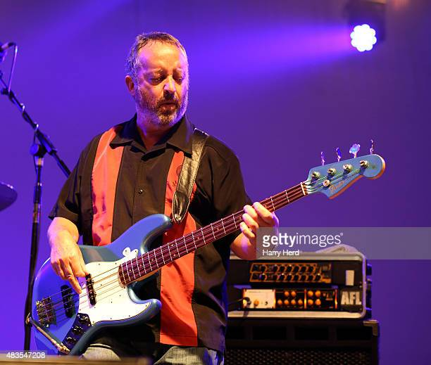 Dave Bronze of Andy Fairweather Low and the Low Riders performs on day 1 of Wickham Festival on August 6 2015 in Wickham England