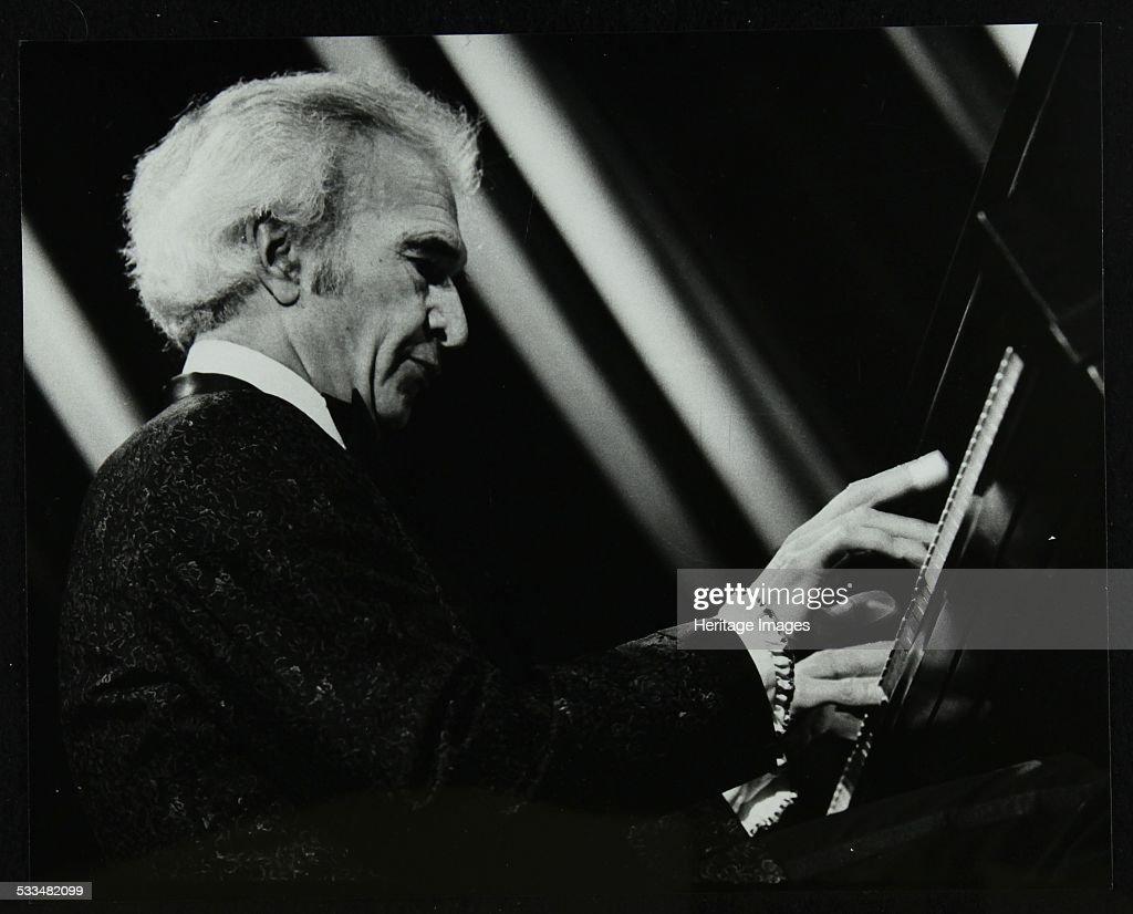 Dave Brubeck performing with his quartet at the Forum Theatre, Hatfield, Hertfordshire, 1983. Artist: Denis Williams : News Photo