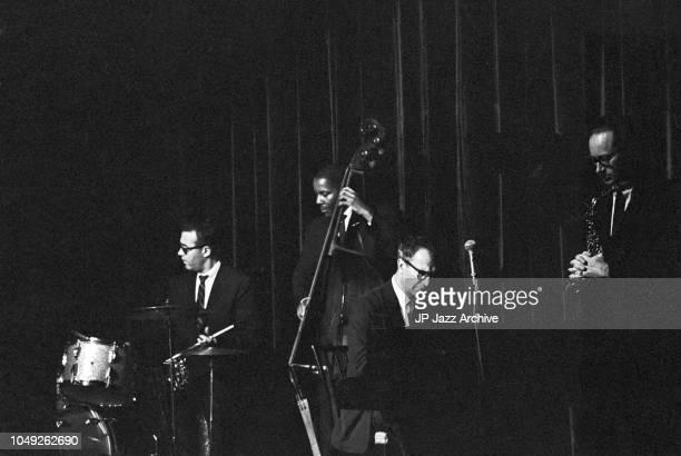 Dave Brubeck Quartet, Copenhagen, Denmark, 1961. Here Joe Morello, Eugene Wright, Dave Brubeck and Paul Desmond.