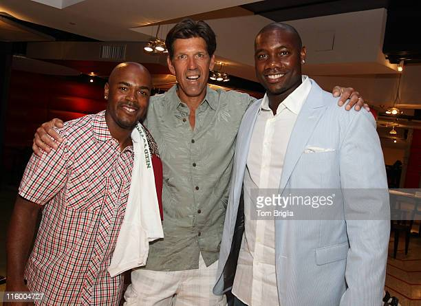 Dave Bryant poses with Phillies Infielder Jim Rollins and Phillies 1st base man Ryan Howard at the27th annual Phillies Phestival at Citizens Bank...