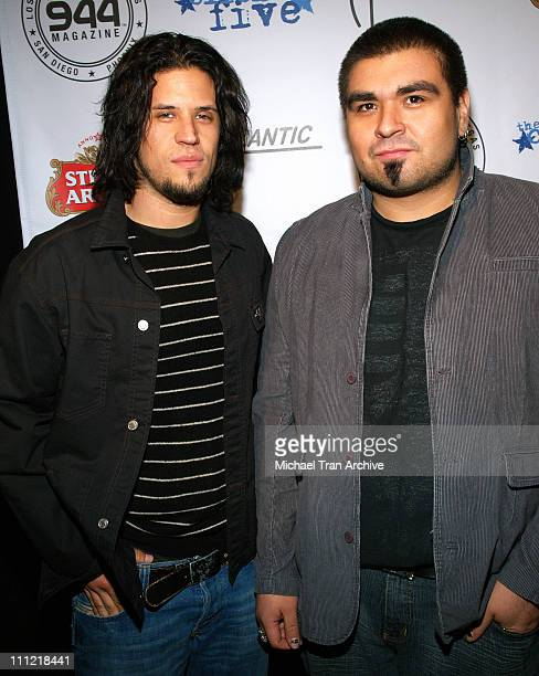 Dave Buckner and Tobin Esperance of Papa Roach during 944 Magazine Presents The Click Five After Party February 9 2006 at Spider Club in Hollywood CA...