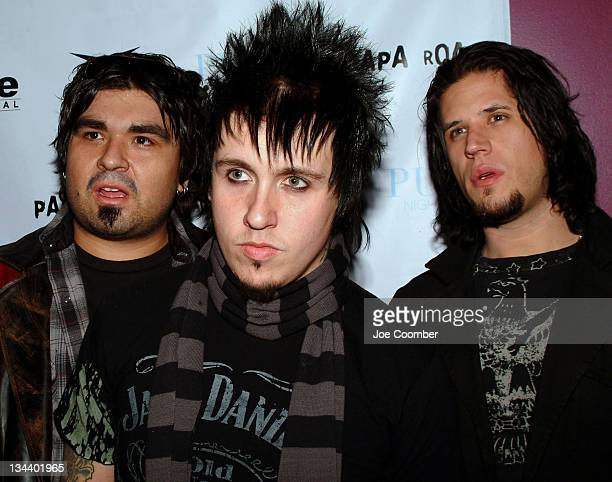 Dave Buckner Jacoby Shaddix and Tobin Esperance of Papa Roach