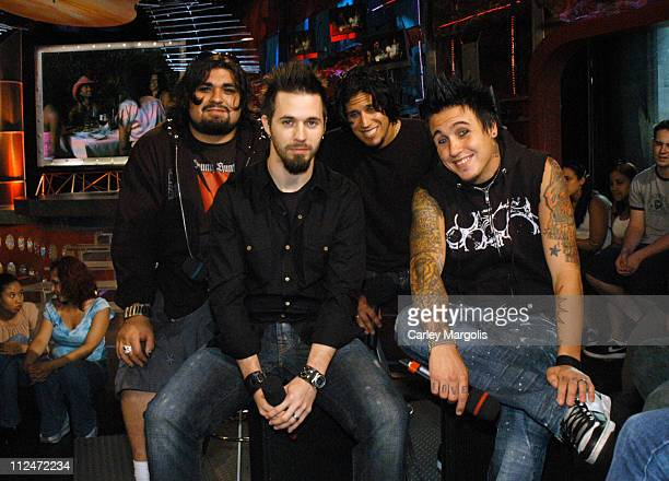 Dave Buckner Jerry Horton Tobin Esperance and Jacoby Shaddix of Papa Roach
