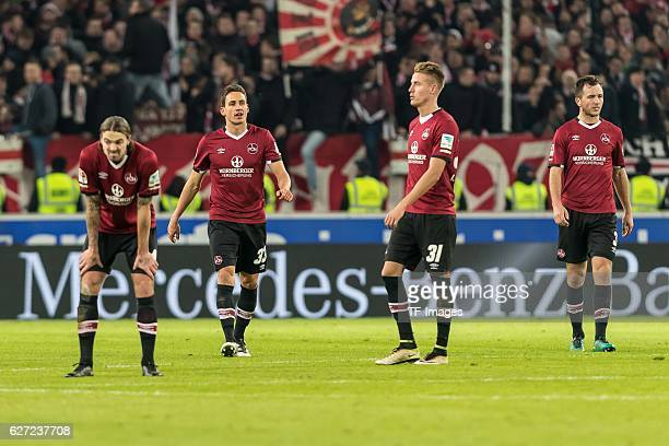 Dave Bulthuis of Nuernberg Georg Margreitter of Nuernberg Ondrej Petrak of Nuernberg Even Hovland of Nuernberg disappointed after the second...