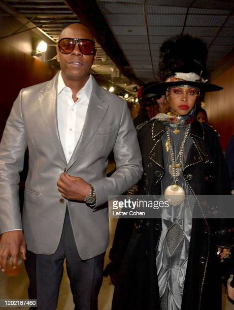Dave Chapelle, Erykah Badu attend the 62nd Annual GRAMMY Awards at STAPLES Center on January 26, 2020 in Los Angeles, California.