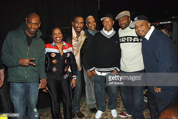 Dave Chappelle Adele Givens Bill Bellamy Stan Lathan Russell Simmons Chris Tucker and Bob Sumner