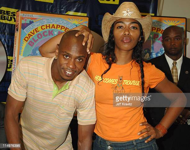 Dave Chappelle and Ananda Lewis at the Los Angeles DVD Block Party to celebrate the June 13 release of 'Dave Chappelle's Block Party' Comedy...