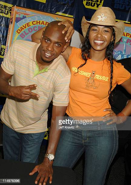 Dave Chappelle and Ananda Lewis at the Los Angeles DVD Block Party to celebrate the June 13 release of Dave Chappelle's Block Party Comedy superstar...