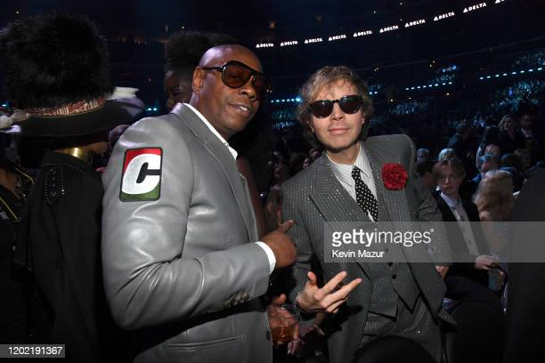 Dave Chappelle and Beck during the 62nd Annual GRAMMY Awards at STAPLES Center on January 26 2020 in Los Angeles California