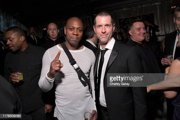 Dave Chappelle and D.B. Weiss attend the 2019 Netflix Primetime Emmy Awards After Party at Milk Studios on September 22, 2019 in Los Angeles,...