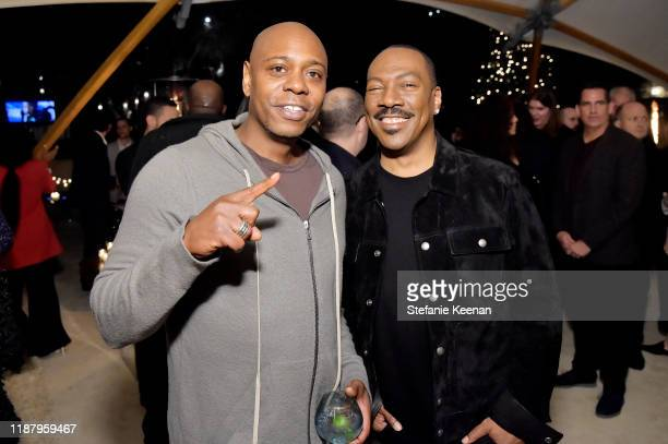 Dave Chappelle and Eddie Murphy attend Celebrate the Season: Ted's Holiday Toast at Private Residence on November 15, 2019 in Beverly Hills,...