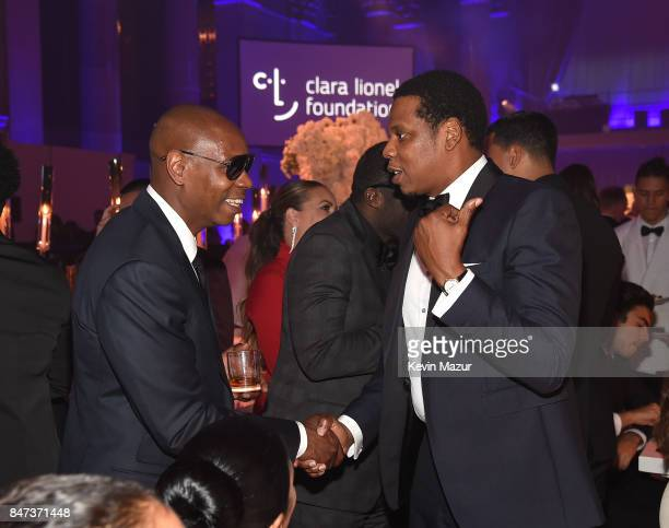 Dave Chappelle and JayZ attend Rihanna's 3rd Annual Diamond Ball Benefitting The Clara Lionel Foundation at Cipriani Wall Street on September 14 2017...