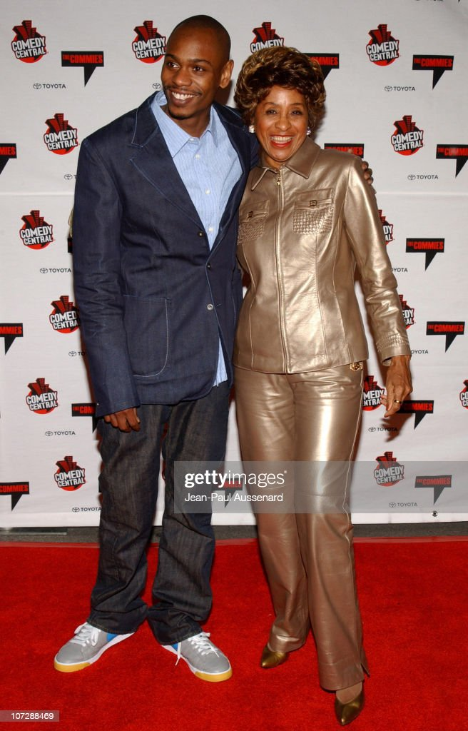 Dave Chappelle and Marla Gibbs during Comedy Central's First Annual Commie Awards - Arrivals at Sony Studios in Culver City, California, United States.