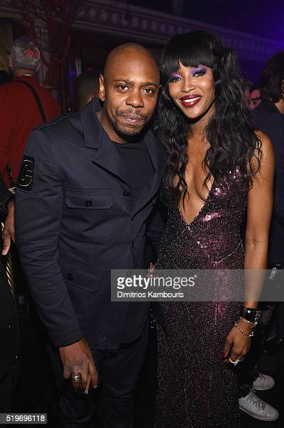 Dave Chappelle and Naomi Campbell attend as Marc Jacobs Benedikt Taschen celebrate NAOMI at The Diamond Horseshoe on April 7 2016 in New York City