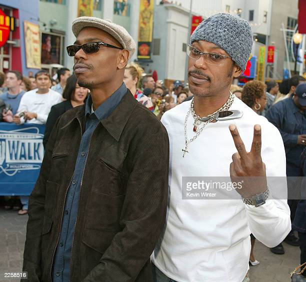 Dave Chappelle and Orlando Jones at the premiere of Undercover Brother at the Universal CityWalk in Los Angeles Ca Thursday May 30 2002 Photo by...