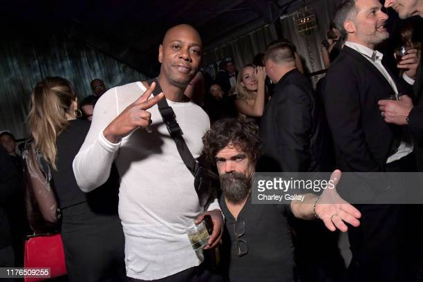 Dave Chappelle and Peter Dinklage attend the 2019 Netflix Primetime Emmy Awards After Party at Milk Studios on September 22, 2019 in Los Angeles,...