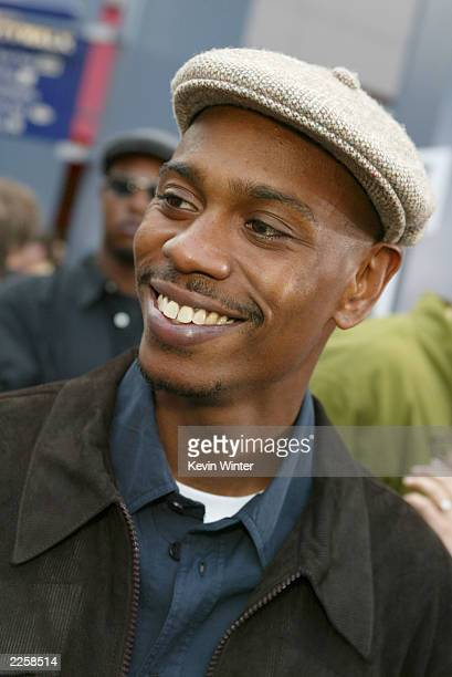 Dave Chappelle at the premiere of Undercover Brother at the Universal CityWalk in Los Angeles Ca Thursday May 30 2002 Photo by Kevin...