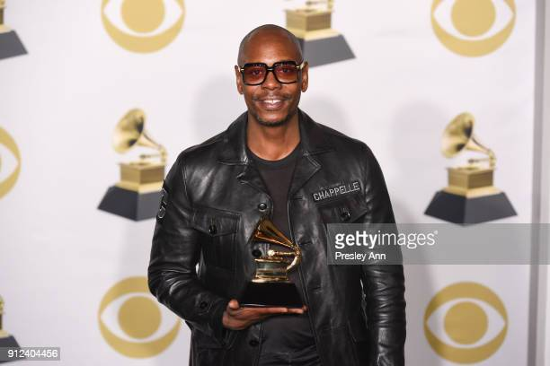 Dave Chappelle attends 60th Annual GRAMMY Awards Press Room at Madison Square Garden on January 28 2018 in New York City