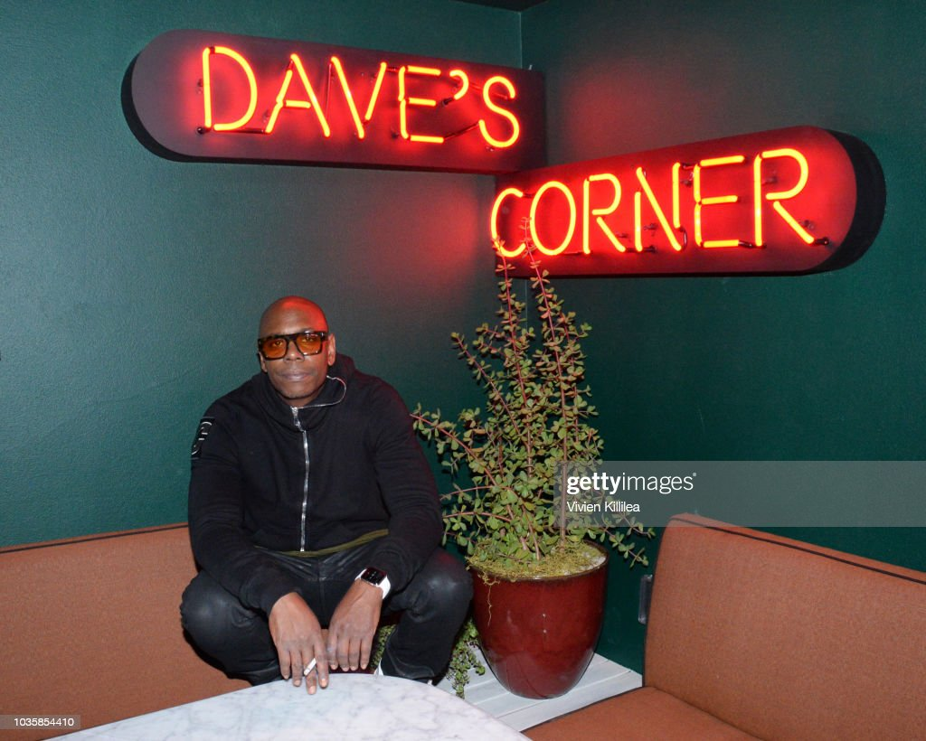 Dave Chappelle Private After Party At The h.wood Group's Special Preview Of Harriet's Rooftop Lounge at the Upcoming 1 Hotel West Hollywood : News Photo
