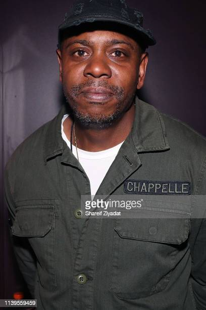 Dave Chappelle attends JayZ Performs At Webster Hall Backstage at Webster Hall on April 26 2019 in New York City