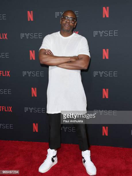 Dave Chappelle attends the Netflix FYSEE KickOff at Netflix FYSEE At Raleigh Studios on May 6 2018 in Los Angeles California