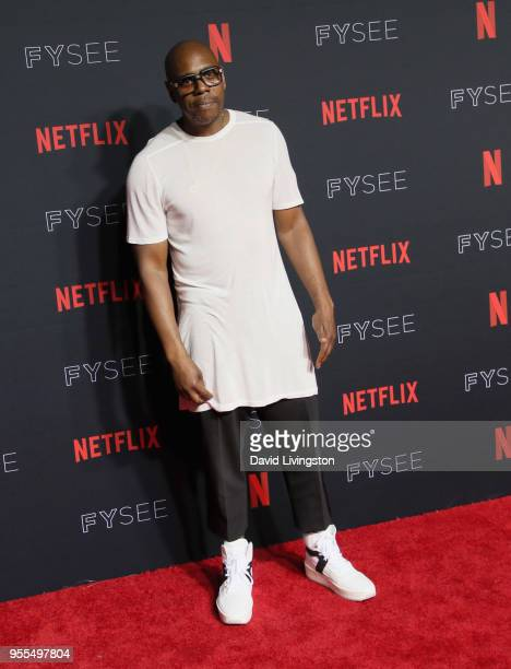 Dave Chappelle attends the Netflix FYSEE Kick-Off at Netflix FYSEE At Raleigh Studios on May 6, 2018 in Los Angeles, California.