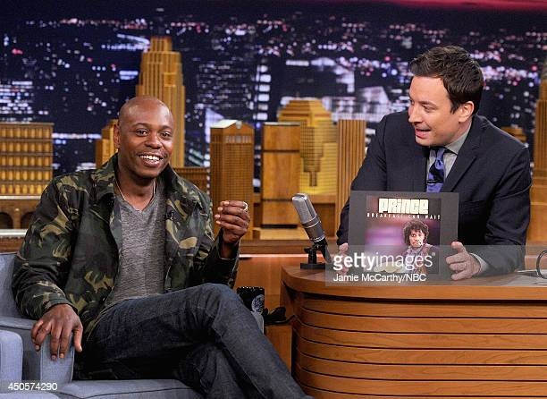 Dave Chappelle during an interview with host Jimmy Fallon on 'The Tonight Show Starring Jimmy Fallon' at Rockefeller Center on June 11 2014 in New...
