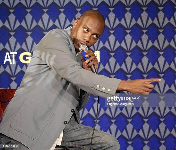 Dave Chappelle during Comedy Benefit For 'L'il Moe' May 11 2006 at Gotham Comedy Club in New York New York United States
