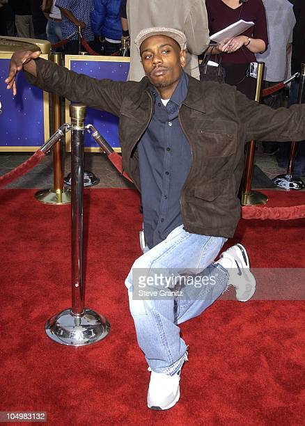 Dave Chappelle during Undercover Brother Premiere at Universal Citywalk in Universal City California United States