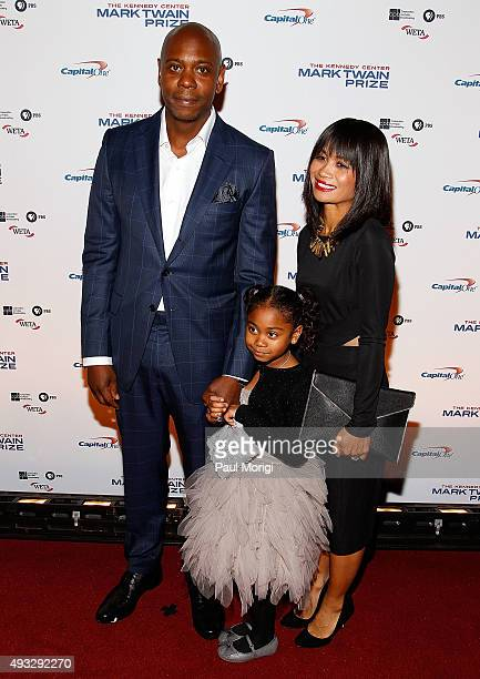 Dave Chappelle Elaine Chappelle and their daughter attend the 18th Annual Mark Twain Prize for Humor at The John F Kennedy Center for Performing Arts...