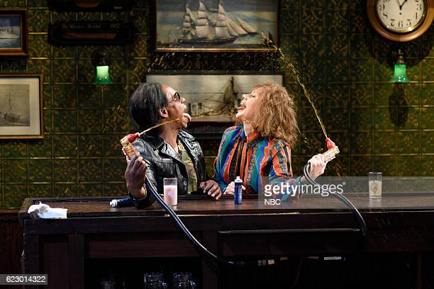 LIVE 'Dave Chappelle' Episode 1710 Pictured Dave Chappelle as Corey Dipships and Kate McKinnon as Sheila Sovage during the 'Last Call' sketch on...