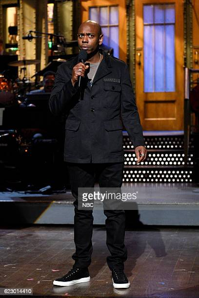 LIVE 'Dave Chappelle' Episode 1710 Pictured Host Dave Chappelle during the monologue on November 12 2016