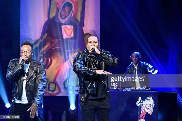 LIVE 'Dave Chappelle' Episode 1710 Pictured Jarobi White Busta Rhymes and Ali Shaheed Muhammad of musical guest A Tribe Called Quest perform on...