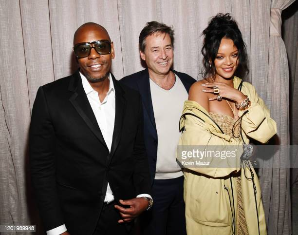 Dave Chappelle guest and Rihanna attend 2020 Roc Nation THE BRUNCH on January 25 2020 in Los Angeles California