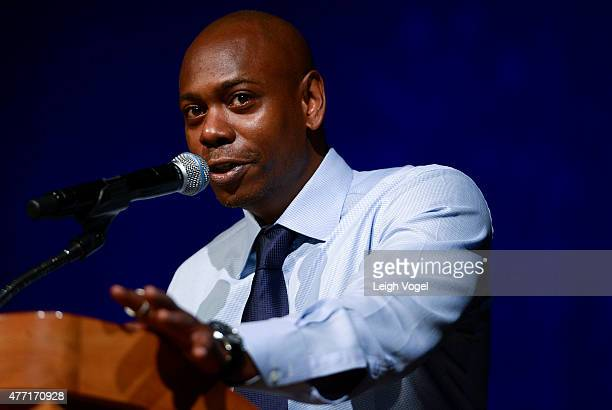 Dave Chappelle speaks during The 2015 Duke Ellington School of the Arts Commencement Ceremony at Lisner Auditorium at George Washington University on...
