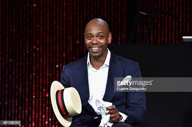 Dave Chappelle speaks on stage as RUSH Philanthropic Arts Foundation Celebrates 20th Anniversary at Art For Life sponsored by Bombay Sapphire Gin at...