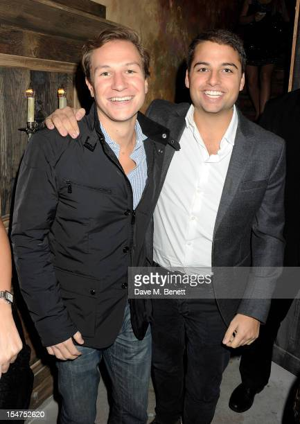 Dave Clark and Jamie Reuben attend the launch of Tonteria Mexican Bar and Restaurant on Sloane Square on October 25 2012 in London England