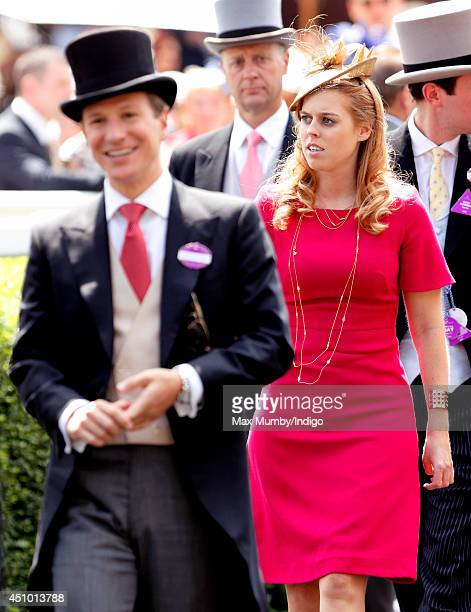 Dave Clark and Princess Beatrice of York attend Day 5 of Royal Ascot at Ascot Racecourse on June 21 2014 in Ascot England