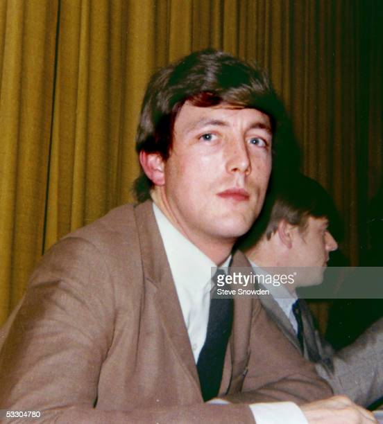 Dave Clark Five keyboardist Mike Smith poses during a press conference prior to their concert in Sam Houston Coliseum circa 1964 in Houston Texas