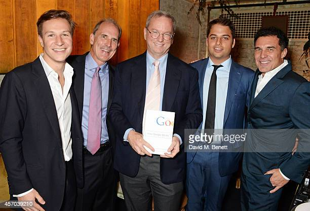 Dave Clark Jonathan Rosenberg Eric Schmidt Jamie Reuben and Andre Balazs attend the book launch party for 'How Google Works' by Eric Schmidt and...