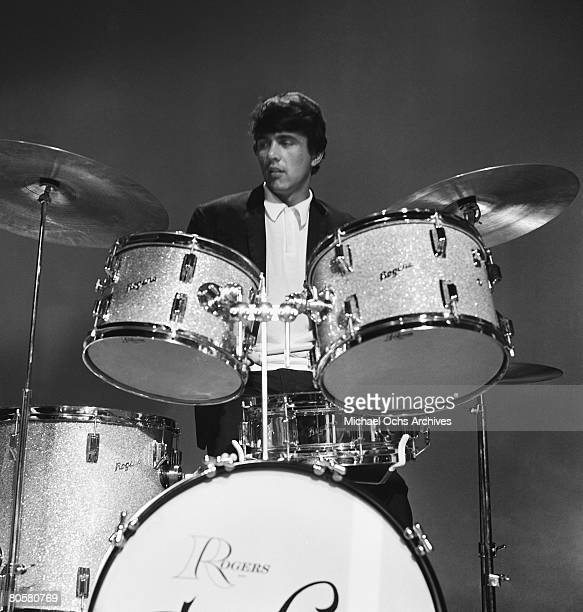 Dave Clark leader and drummer for The Dave Clark rehearses for an appearance on the TV show Shindig circa 1965 in Los Angeles California