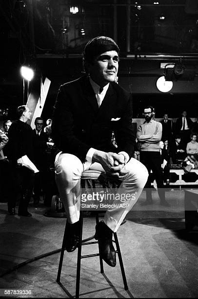 Dave Clark poses on the set of TV show Ready Steady Go Kingsway Studios London February 1964