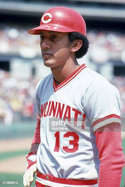 Dave Concepcion of the Cincinnati Reds looks on during a MLB season game circa 19701988