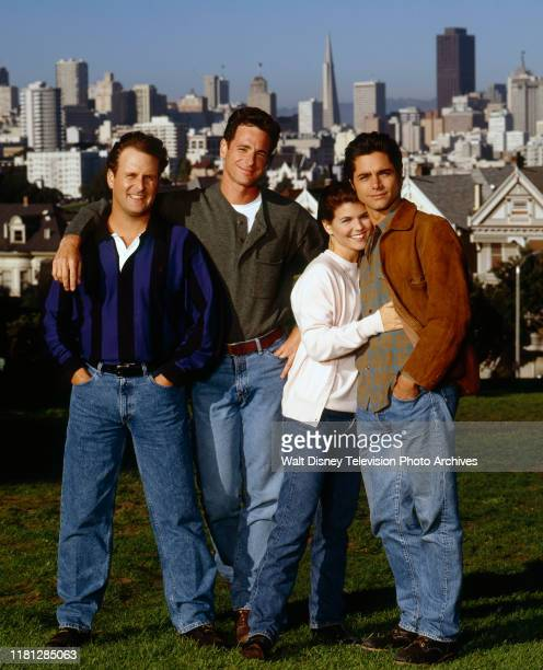 Dave Coulier Bob Saget Lori Loughlin John Stamos Season Eight promotional photo for the ABC tv series 'Full House' August 22 1994