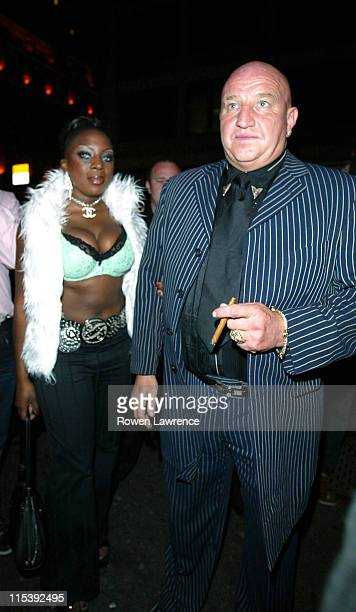 Dave Courtney and Guest during Television X 10th Anniversary Party at Capisce in London Great Britain